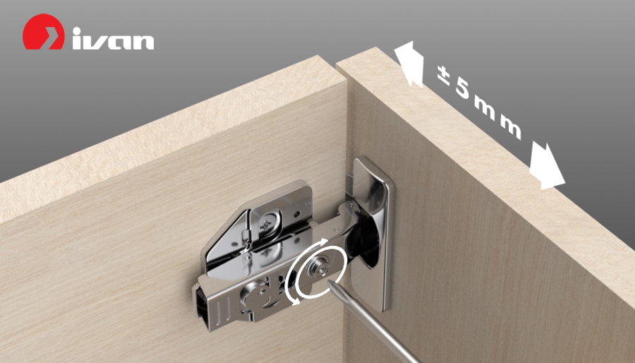 Adjust cabinet door with IVAN 01489 conceaded hinge